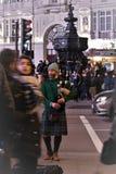 piccadilly风笛球员马戏伦敦 免版税图库摄影