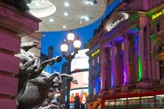 Piccadilly马戏,伦敦,英国。 免版税库存图片