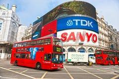 Piccadilly马戏,伦敦。 英国. 免版税图库摄影