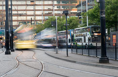 Piccadilly central bus station, Manchester Royalty Free Stock Photography