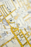 Piccadilly Circus. Old map of central London and Piccadilly Circus Stock Photo