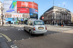 Piccadilly Circus in Central London Stock Photography