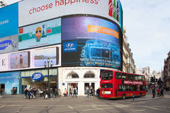 Piccadilly Circus in Central London Stock Images