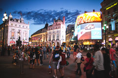 Piccadilly Circus in the evening, London Stock Images