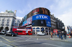 Piccadilly circus. And famous advertisements in london, england Royalty Free Stock Photos