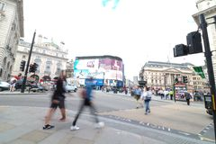 Piccadilly circus. Famous place in london Royalty Free Stock Photos