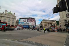 Piccadilly circus. Famous place in london Stock Images