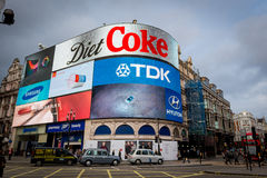 Piccadilly Circus in Jan 2014 Stock Photography