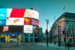 Piccadilly Circus junction in London Royalty Free Stock Image