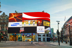 Piccadilly Circus junction in London Stock Photography