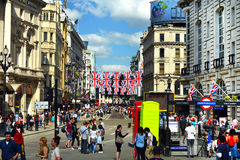 Piccadilly Circus in London. Image was taken on June 2012 Royalty Free Stock Images