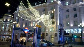 Piccadilly circus London at Christmastime - LONDON, ENGLAND - DECEMBER 11, 2019