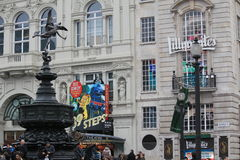 Piccadilly Circus in London City Royalty Free Stock Photos