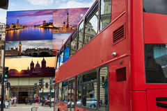 Piccadilly Circus London digital photomount Royalty Free Stock Photos
