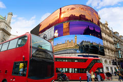 Piccadilly Circus London digital photomount Royalty Free Stock Photography
