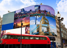 Piccadilly Circus London digital photomount Stock Photography