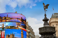 Piccadilly Circus London digital photomount Royalty Free Stock Photo