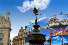 Piccadilly Circus London digital photomount Royalty Free Stock Images