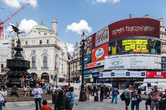 Piccadilly Circus London England Stock Images