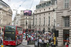 Piccadilly Circus, London England Stock Images
