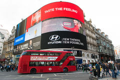 Piccadilly Circus in London Stock Images