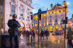 Piccadilly Circus London Evening Stock Images
