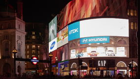 Piccadilly Circus London Night Shot Timelapse stock footage