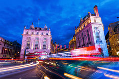 Piccadilly Circus in London at night Royalty Free Stock Image