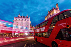 Piccadilly Circus in London at night Royalty Free Stock Photography