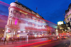 Piccadilly Circus in London at night Stock Photos