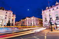Piccadilly Circus in London at night Stock Images