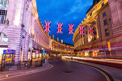 Piccadilly Circus in London at night Royalty Free Stock Images