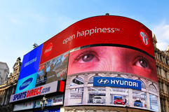 Piccadilly Circus in London. UK Royalty Free Stock Images