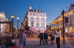 Piccadilly Circus in London. Royalty Free Stock Images