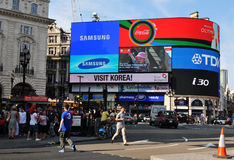 Piccadilly Circus in London, UK stock photography
