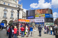 Piccadilly Circus in London. Royalty Free Stock Image