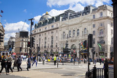Piccadilly Circus in London. Stock Image