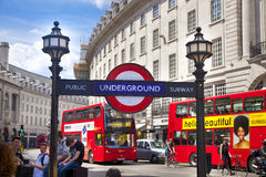 Piccadilly Circus in London. Stock Photos