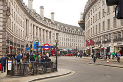 Piccadilly Circus in London. Stock Photography