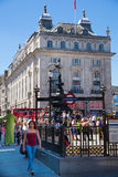 Piccadilly Circus in London. Stock Photo