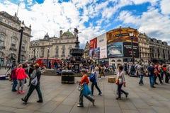 Piccadilly Circus - Londra, Regno Unito fotografia stock libera da diritti