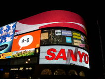 Piccadilly Circus by night stock image
