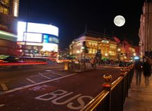 The piccadilly circus at night. In London UK Stock Images