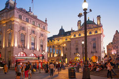 Piccadilly Circus in night. Famous place for romantic dates Stock Photos