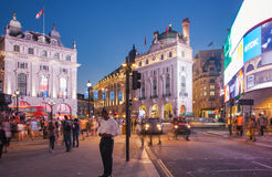 Piccadilly Circus in night. Famous place for romantic datesPiccadilly Circus in night. Famous place for romantic dates. London Royalty Free Stock Photography