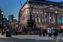 Piccadilly Circus at night, London Royalty Free Stock Photos