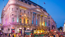 Piccadilly Circus in night, London Royalty Free Stock Photography