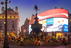 Piccadilly Circus in night, London Stock Photography