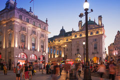 Piccadilly Circus in night, London Stock Image