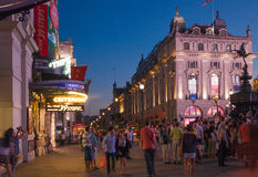 Piccadilly Circus in night.London Stock Photos